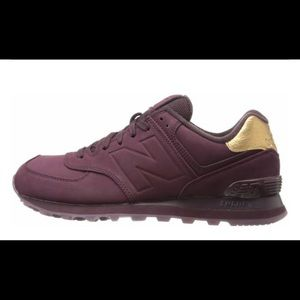 Burgundy New Balance Women's Sneakers